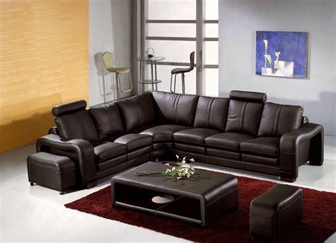 Ordinaire Salon Avec 2 Canapes #1: 6443-canape-d-angle-en-cuir-marron-avec-appuie-tete-relax-havane--angle-gauche-.jpg