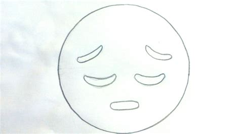 imagenes de tristeza para dibujar c 243 mo dibujar un emoji triste para ni 241 os dibujo de emoji