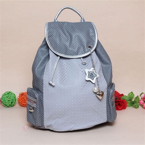 Baru New 6in1 Korean Travel Bag In Bag Polkadot 1 Set Ds school backpacks collage