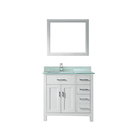Studio Bathe Vanity by Studio Bathe Kalize 36 In Vanity In White With Glass