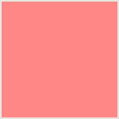 color or colour ff8784 hex color rgb 255 135 132 light red pink