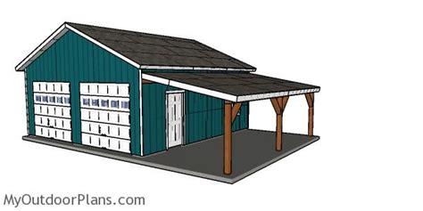 double garage plans myoutdoorplans