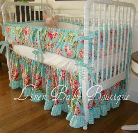 Crib Sheet Meaning by Crib Bedding Baby Bedding Turquoise Flower 2 By