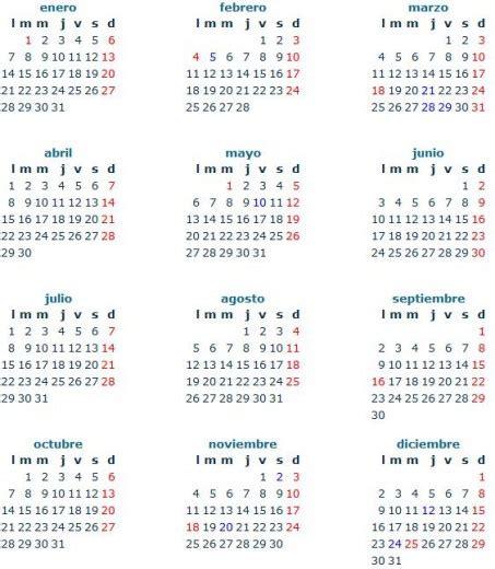 Calendarios Mexicanos Ver Calendario 2013 En Mexico Con Feriados Para Imprimir
