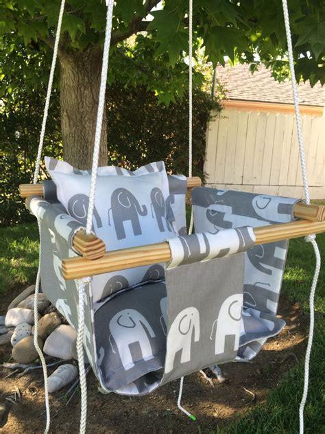 outdoor baby swing baby indoor outdoor canvas swing gray white