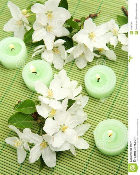 fiori e candele fiori e candele fotografia stock immagine di fiore