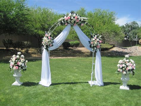 wedding gazebo decorating ideas white wrought iron arch