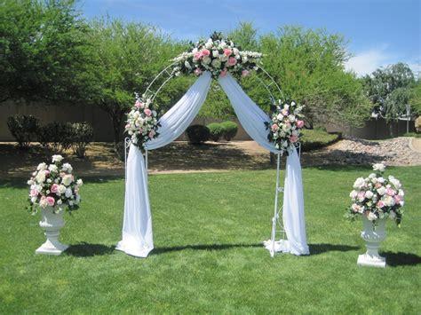 Wedding Arch Ideas   White wrought iron arch, 3 white