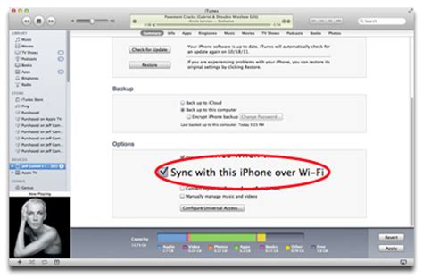 how to sync iphone wifi ios 5 iphone wi fi syncing the mac observer