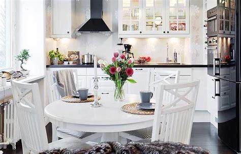 mesa redonda cocina decoracion nordica cocinas