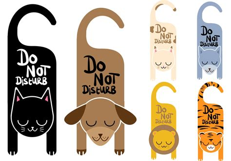 do not disturb sign template do not disturb vector signs animals free vector