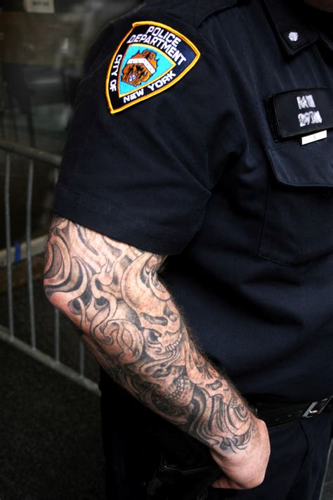 police with tattoos officer quotes quotesgram