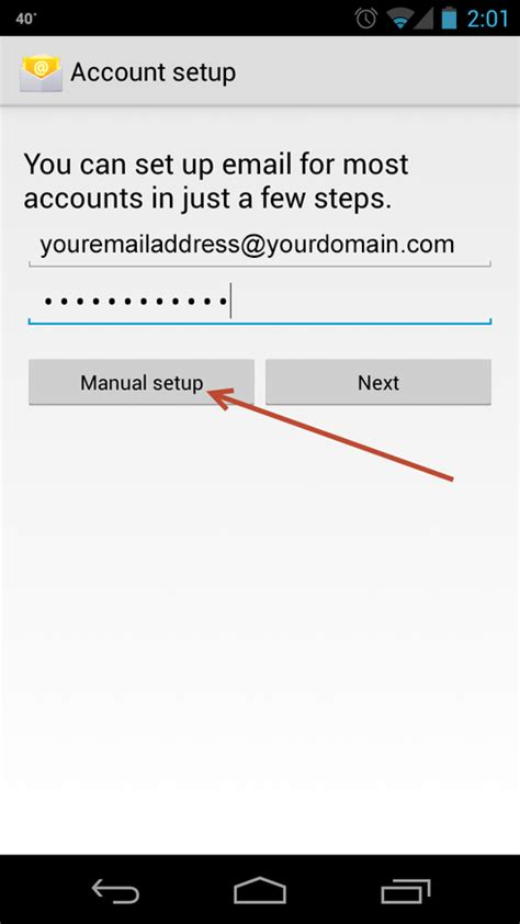 how to set up work email on android setup your android email account minneapolis web design agency