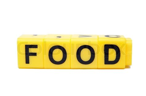 word for cuisine an image of yellow blocks with word food on them