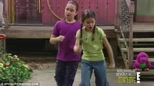 demi lovato as a kid on barney selena gomez as a kid on barney www pixshark