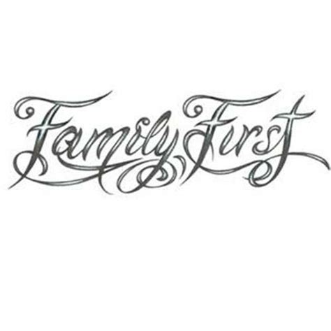 family first tattoos designs family design modern calligraphy style
