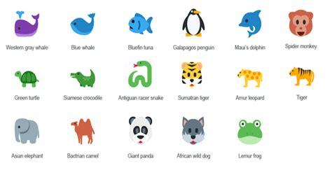 imagenes de animales con w emojis de animales para salvarlos de la extinci 243 n
