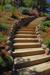 landscaping stairs moss rock retaining wall stairs not crazy about hillside planting steps stairs pinterest