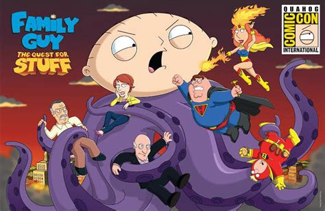 bryan cranston stan lee family guy the quest for stuff adds bryan cranston stan