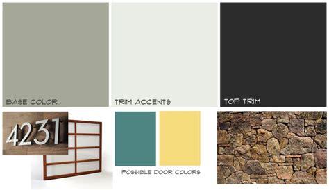 mid century modern exterior paint ideas
