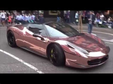 rose gold ferrari rose gold ferrari 458 spyder with armytrix cat back