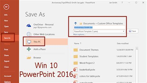 how to save a powerpoint template templates themes save as template format jan s