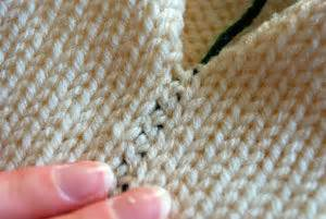 how to sew a flat seam in knitting seaming two colors together