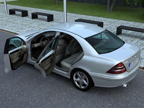 mercedes 2006 models mercedes c class 2006 3d model sedan c klasse 3ds max