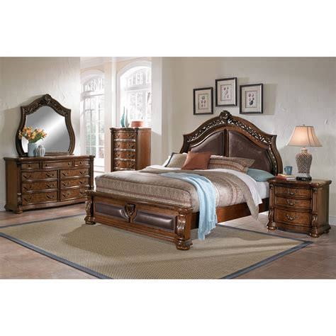 moroccan bedroom furniture morocco king bed pecan american signature furniture