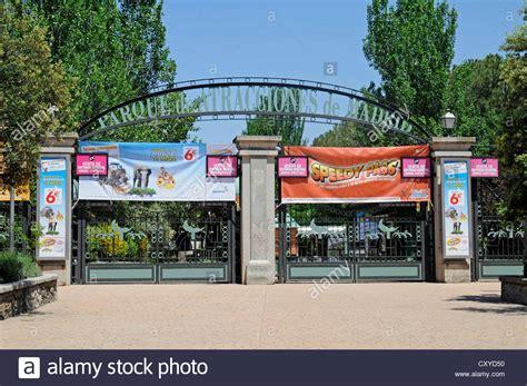 theme park entrance parque de atracciones entrance amusement park madrid