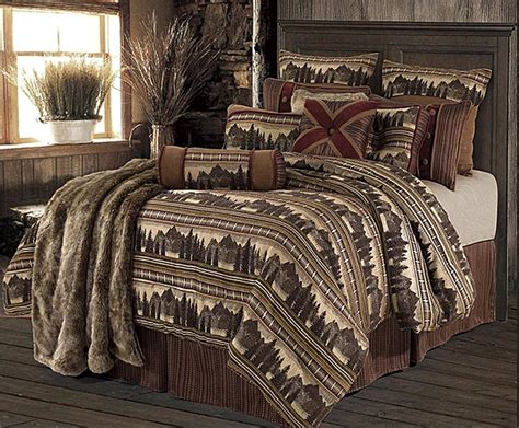 rustic bedding sets briarcliff lodge cabin rustic bedding set