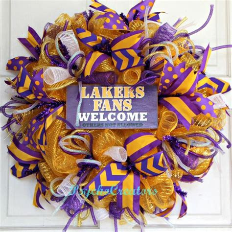 best gifts for lakers fans 117 best wreaths nba pro basketball images on