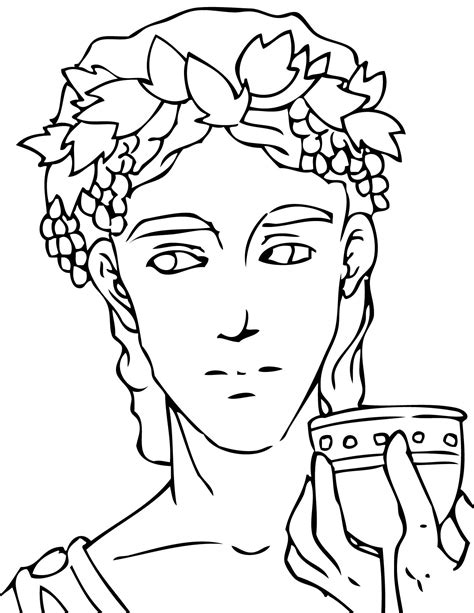 Dionysus Coloring Page Handipoints Ancient Greece Coloring Pages