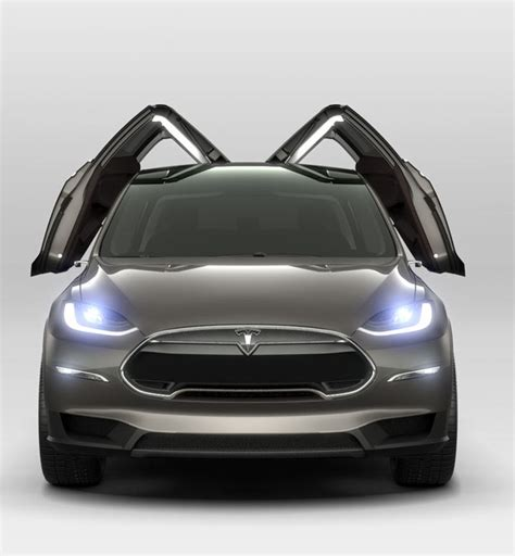 Tesla Suv Doors tesla model x seven seater suv with gull wing like doors
