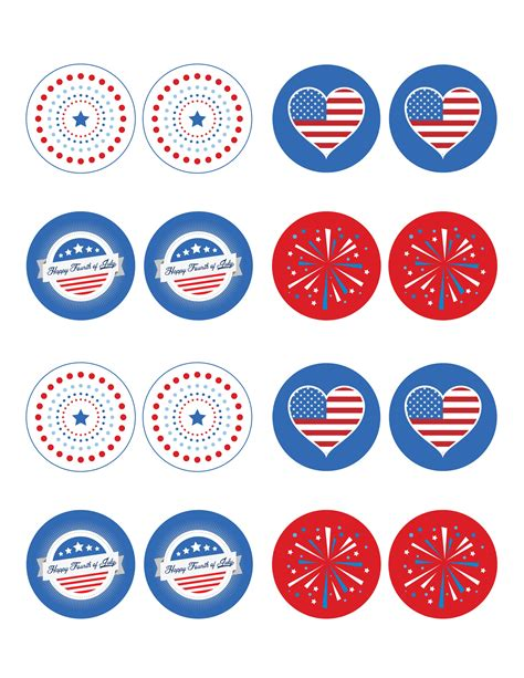 4th Of July Cupcake Topper Printables free 4th of july printable cupcake toppers
