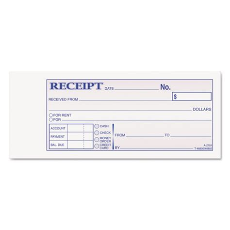 100 mm receipt template for use with receipt printer bettymills tops 174 money and rent receipt books tops top46800