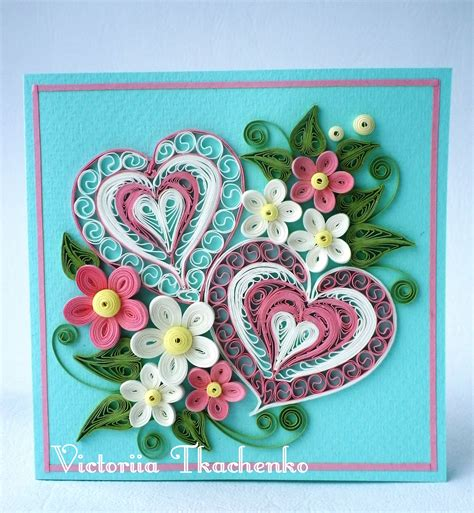 paper quilling greeting card tutorial valentine quilling card valentine s day quilling card