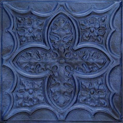 Blue Ceiling Tiles by Acantus Leaf Aluminum Backsplash Tile 2432