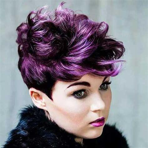 punky haircuts for medium length hair purple color punk pixie 187 new medium hairstyles