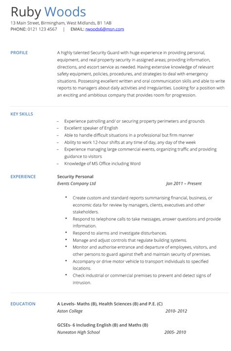 security resume examples and samples examples of resumes
