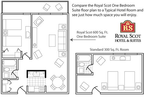 One Bedroom Floor Plan by Victoria Bc Hotel Vancouver Island Hotel Royal Scot