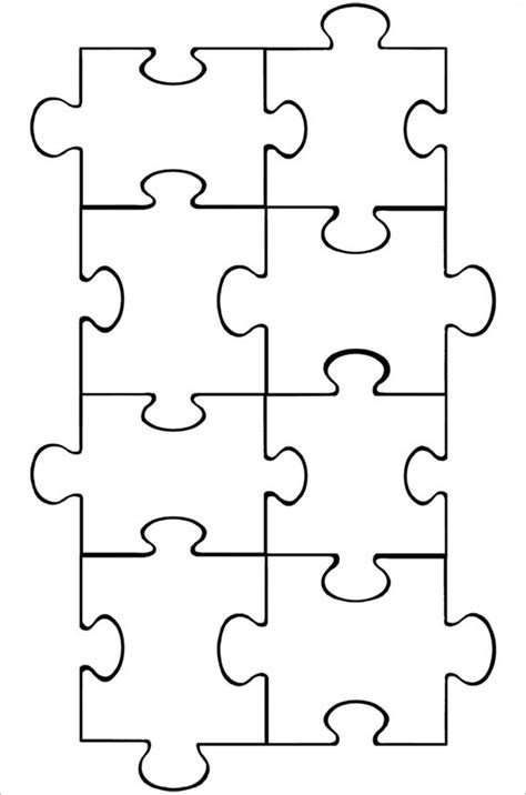 printable jigsaw puzzle maker puzzle piece template puzzle pieces and puzzles on pinterest
