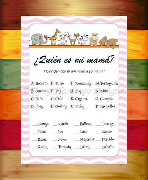 printable baby shower games in spanish unique spanish baby shower who s my mommy quien es mi