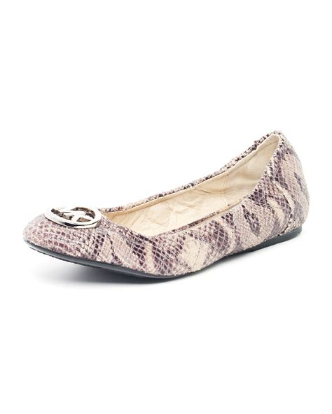 Michael Kors Fulton Quilted Ballet Flats by Michael Kors Fulton Quilted Python Embossed Ballet Flat Lyst