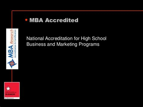 Post Mba Accreditation by High School Of Business Accelerated Business Courses For