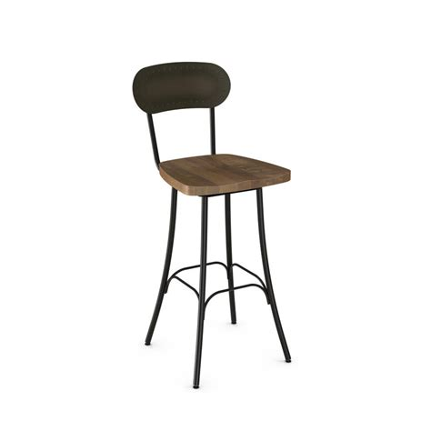 Amisco Bar Stools Discontinued by Bean Swivel 26 Inch Stool Distressed Solid Wood Seat