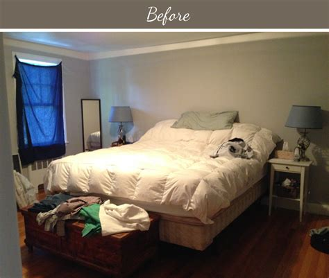 bedroom makover design fixation before after a yellow and gray