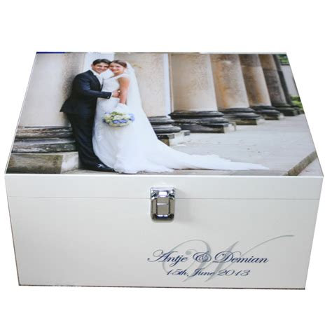 Wedding Keepsake Box by Wedding Memory Box With Photo And Monogram