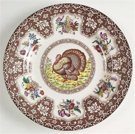 brown pattern dinnerware spode thanksgiving brown multicolor no trim at