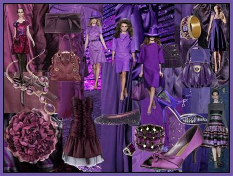 Fall 2008 Trend Gray And Purple by Color Fashion Trend Mood Boards